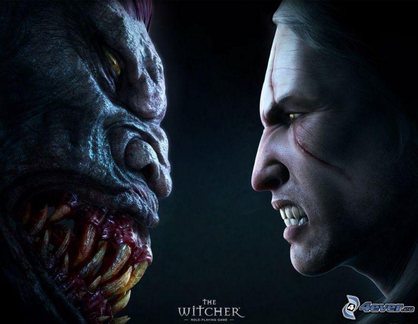The Witcher, trollkarl, demon