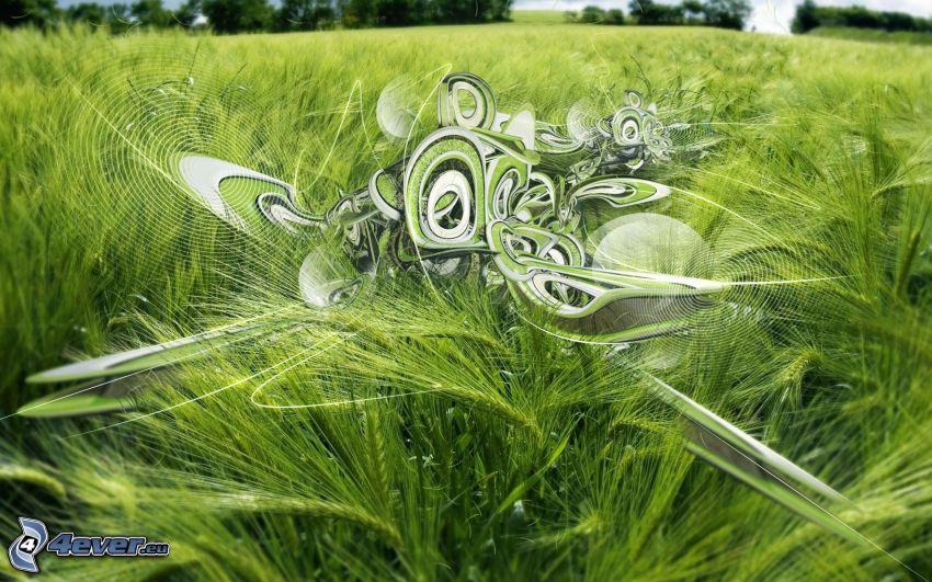 abstrakt, gräs