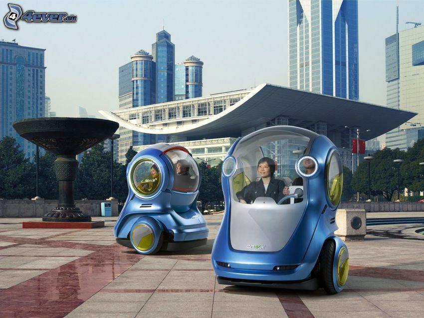 bilar, framtid, Kina