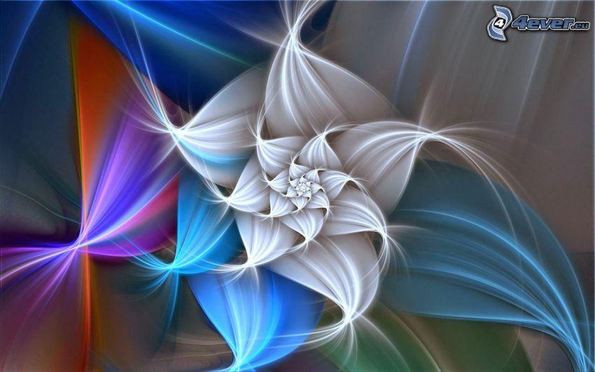 blomma, fraktal