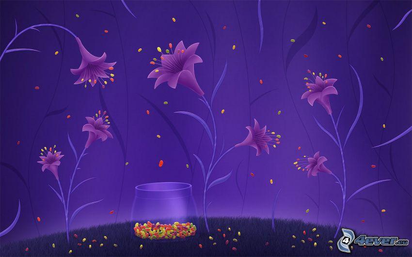 digitala blommor, pollen