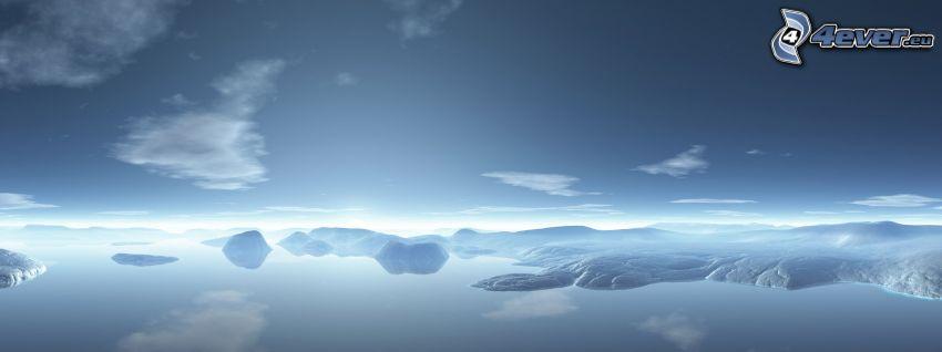 digitalt landskap, sjö