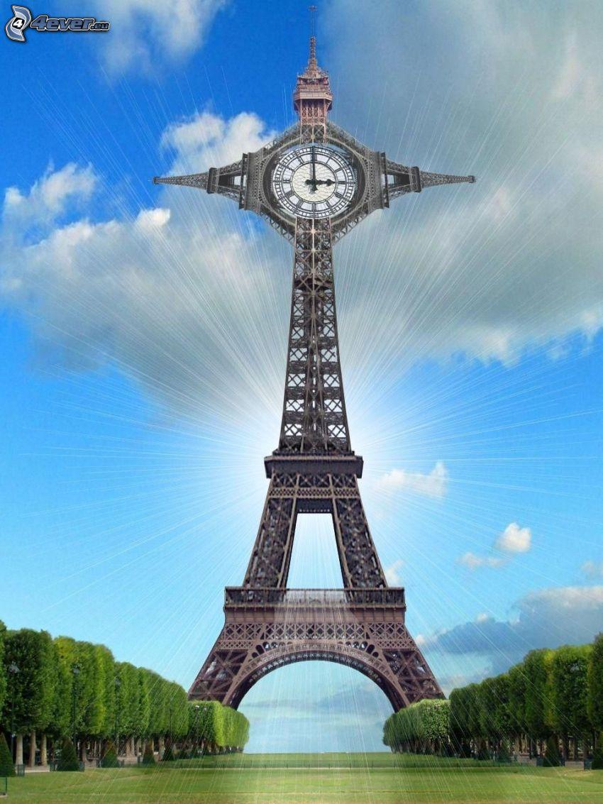 Eiffeltornet, klocka