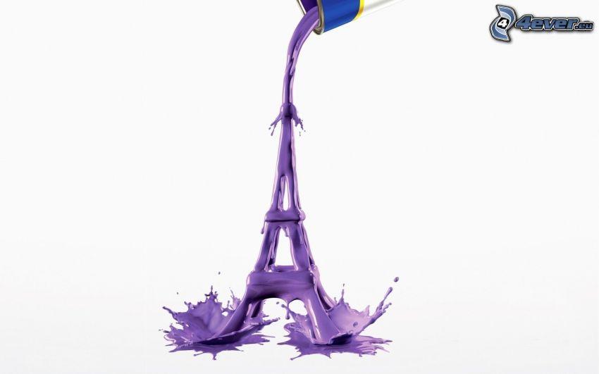 Eiffeltornet, lila färg