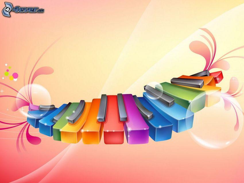 färggrannt piano