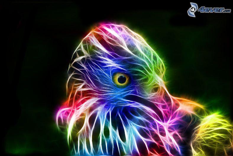 fraktal fågel