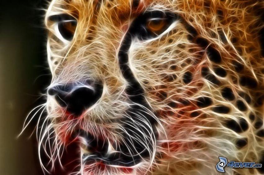 fraktal gepard, fraktaldjur