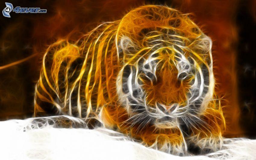fraktal tiger