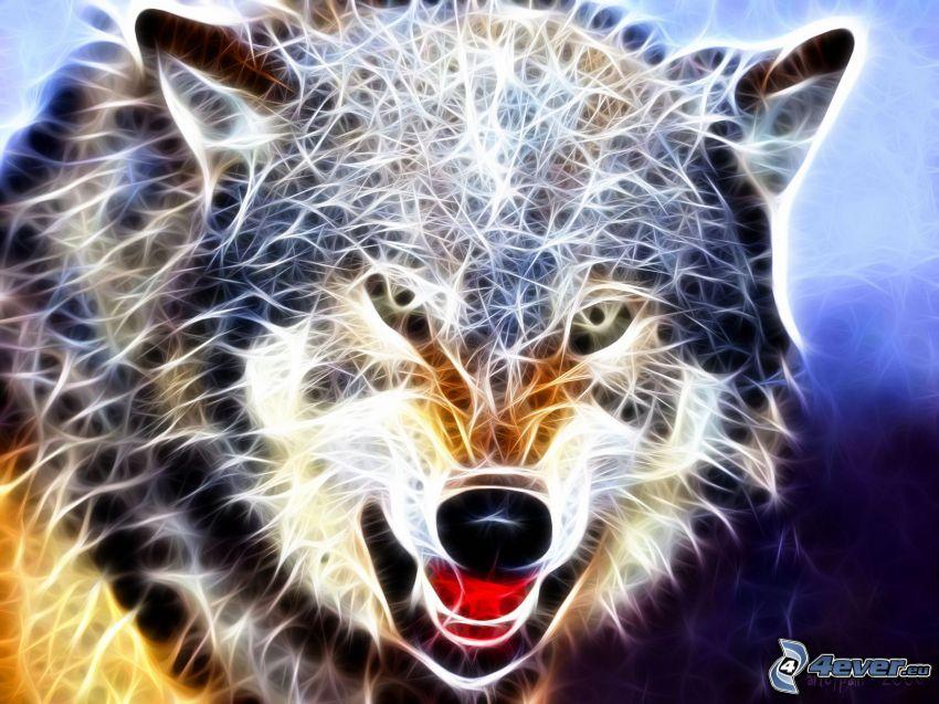 fraktal varg, fraktaldjur