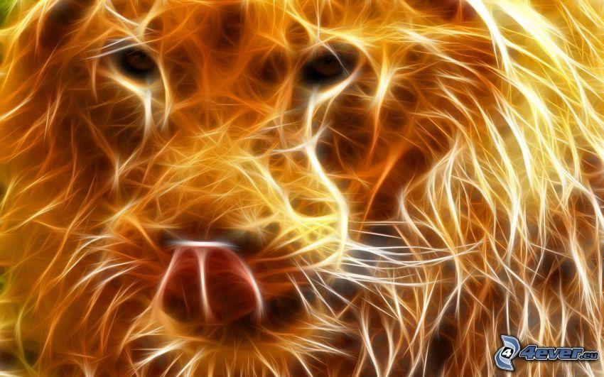 fraktalt lejon, fraktaldjur