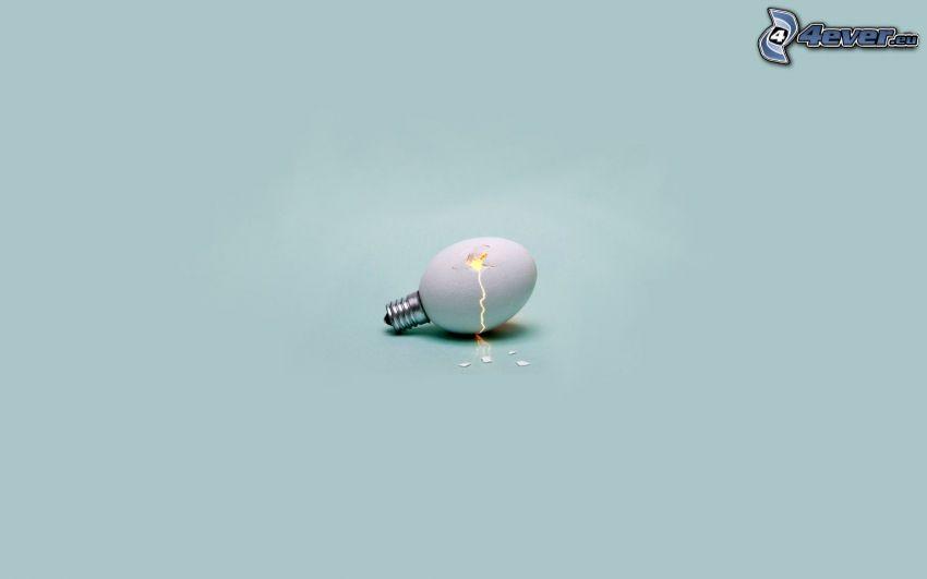 glödlampa, ägg