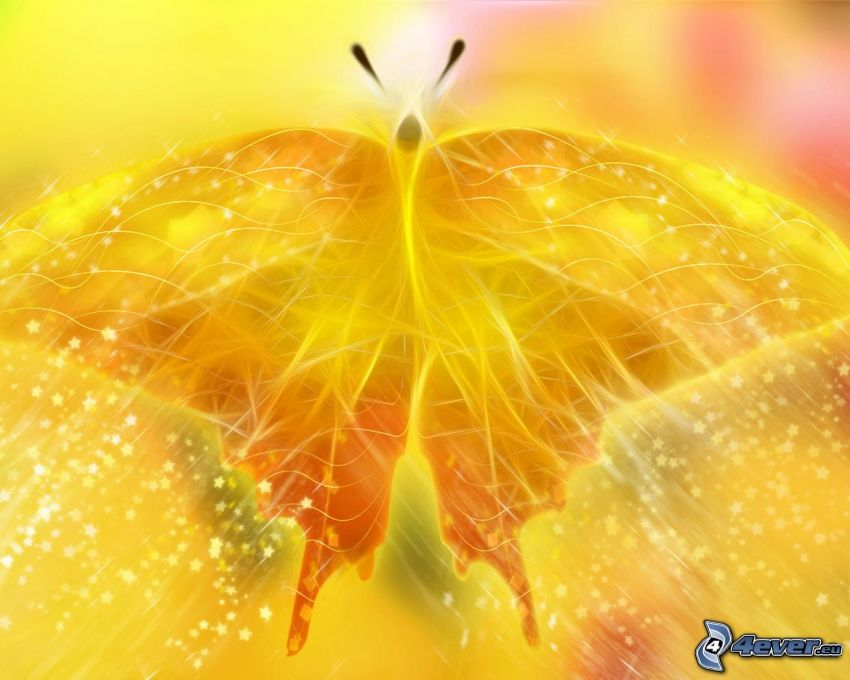 gul fjäril