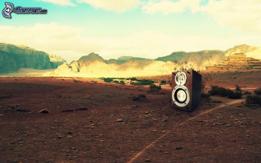 högtalare, landskap