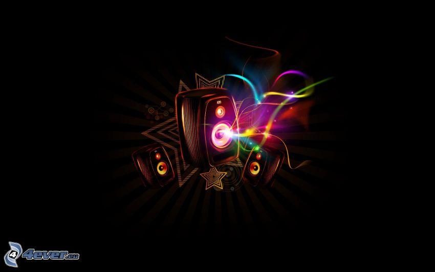 högtalare, regnbågsfärger