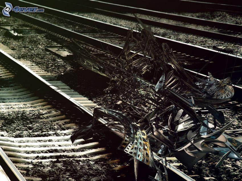 järnväg, abstrakt