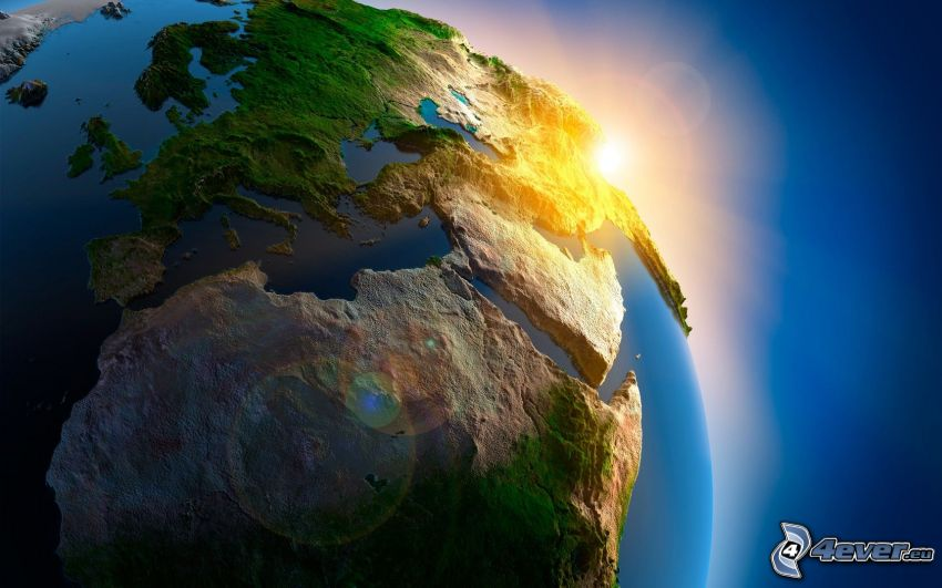 Jorden, soluppgång