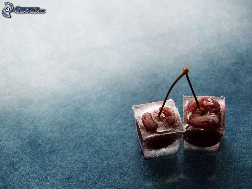 körsbär, isbitar