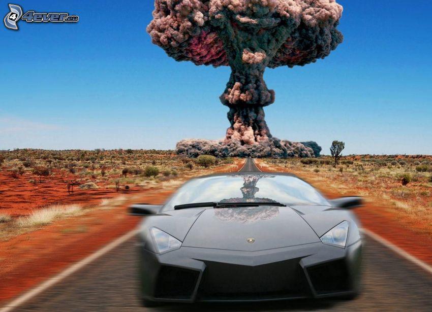 Lamborghini, explosion