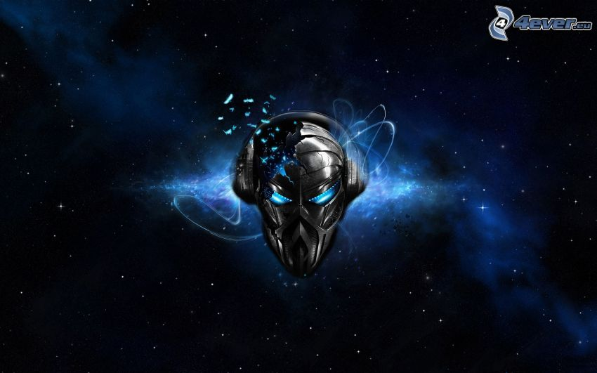 mask, stjärnhimmel