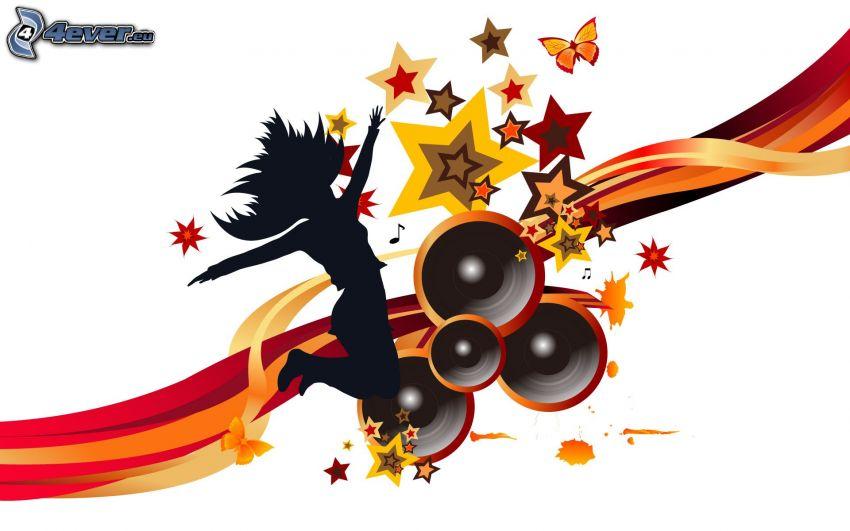 musik, stjärnor