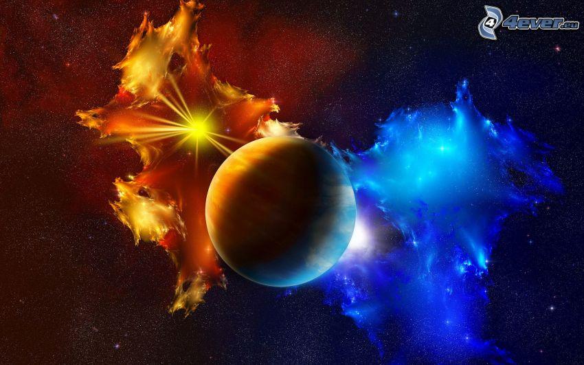 planet, nebulosor