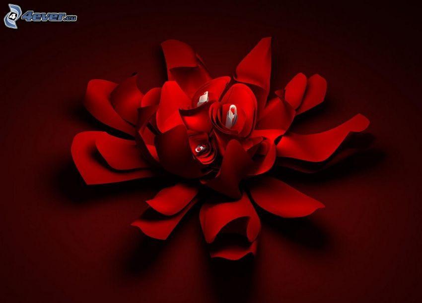 röd blomma