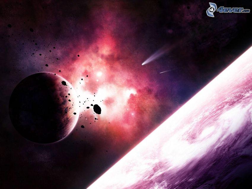 rymdexplosion, planeter