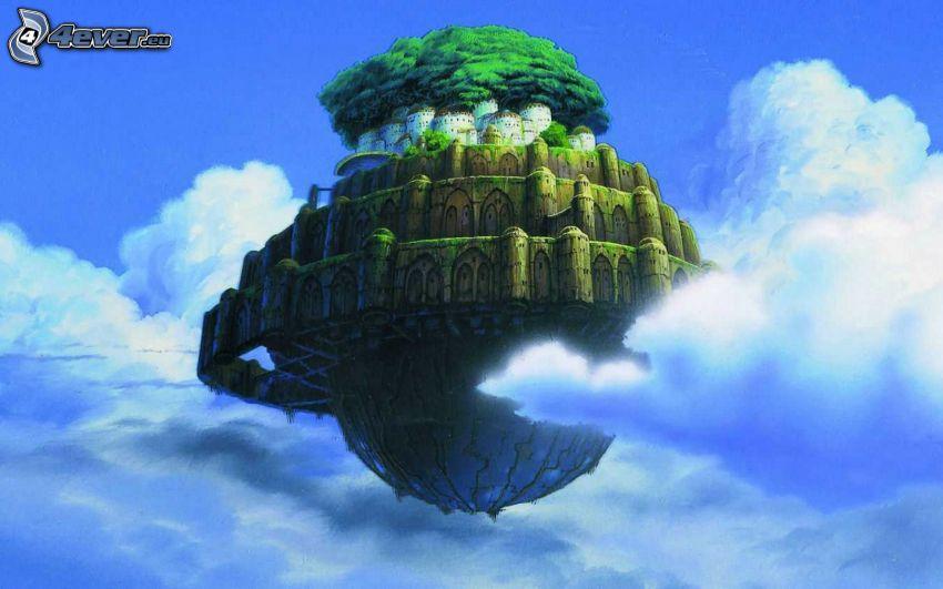 slott, moln