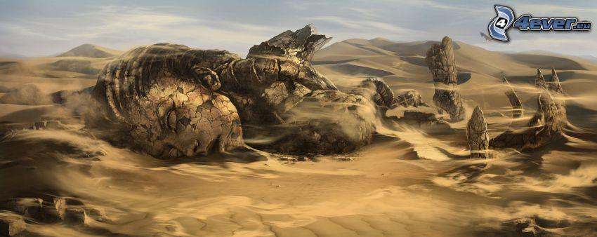 staty, sand