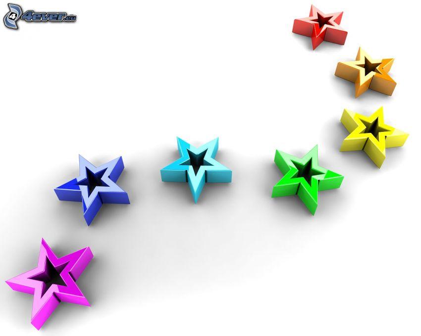 stjärnor, 3D