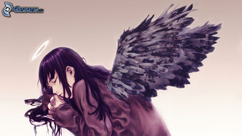 tecknad ängel