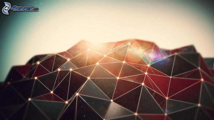 trianglar, färger