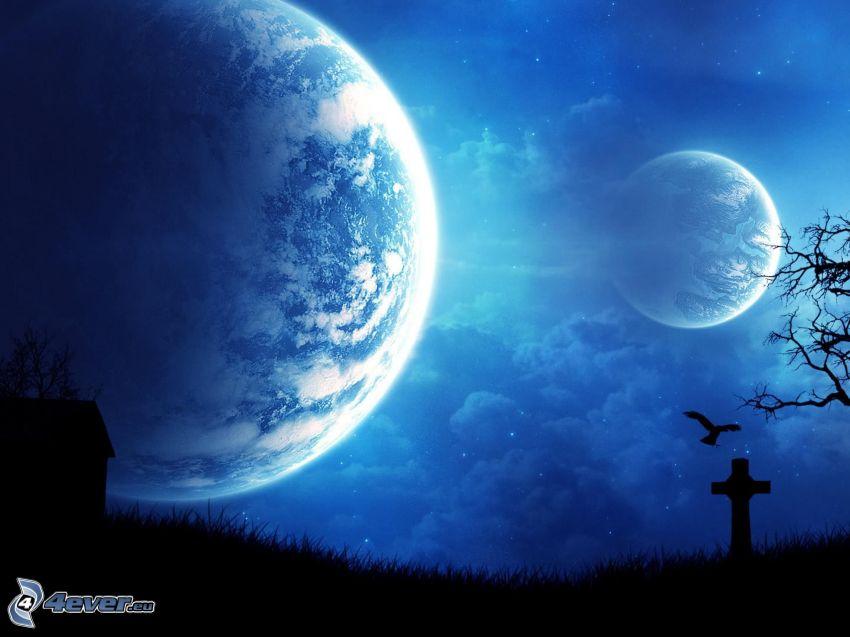 två månar, kyrkogård