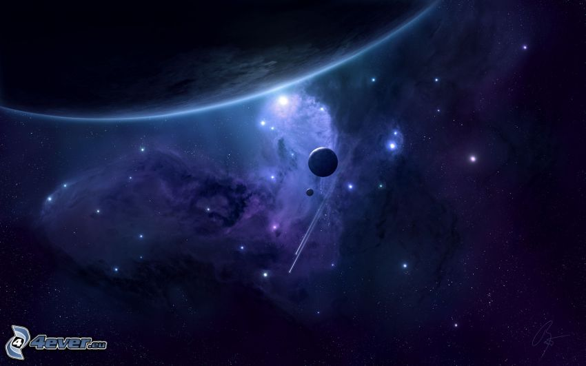 universum, planeter, nebulosa, stjärnor
