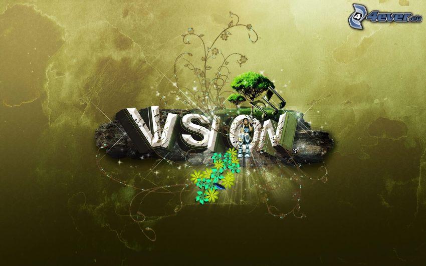 vision, blommor
