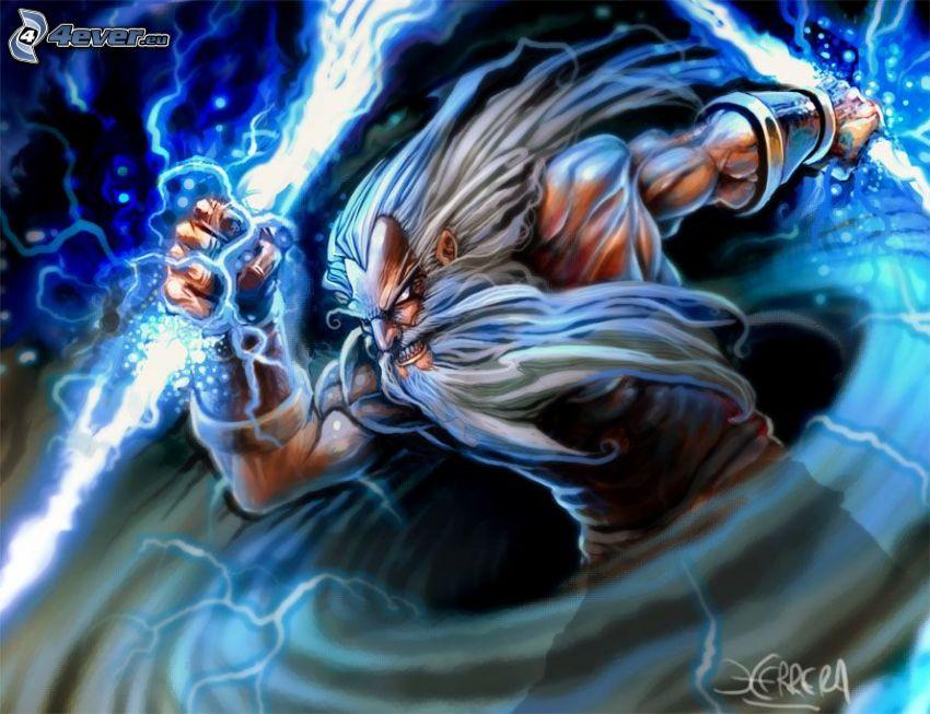 Zeus, riddare, vilda folkstammar