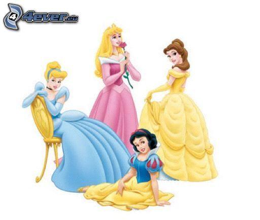 Disney prinsessor, Askungen, Snövit, Skönheten, Törnrosa, saga