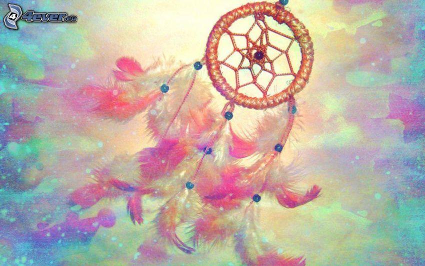 drömfångare, färgstark bakgrund