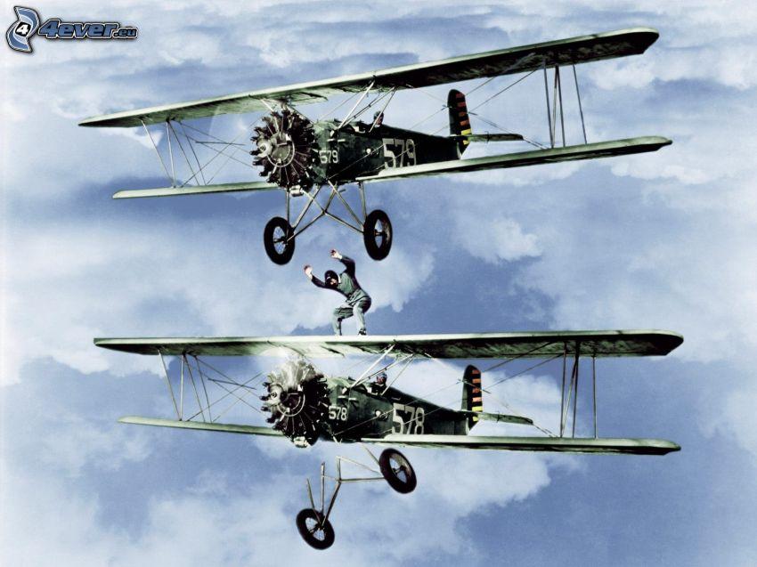 dubbelvingat flygplan, adrenalin