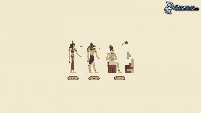 Egypten, tetris, sfinx