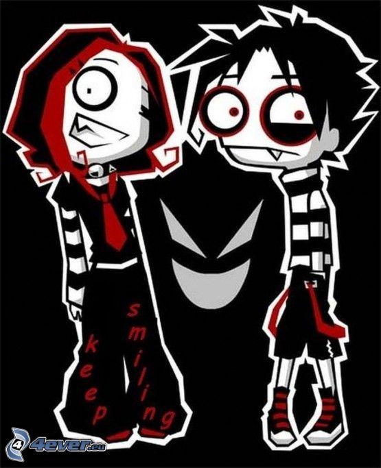 emo par, seriefigurer
