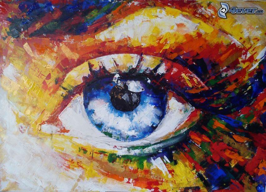 färggrannt öga