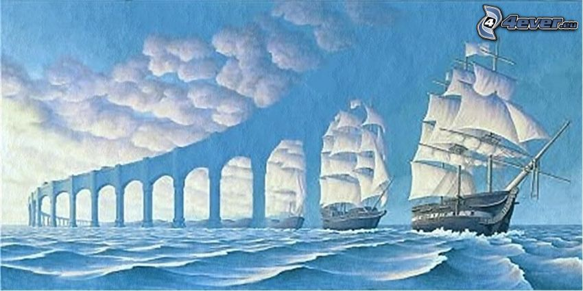 fartyg, bro