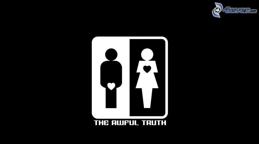 figurer, man, kvinna