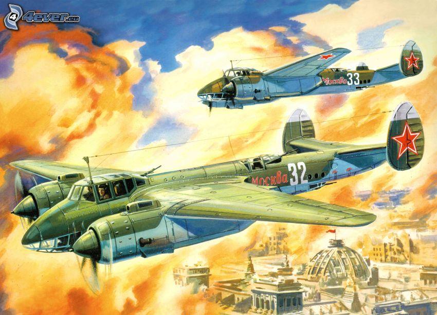 flygplan, explosion