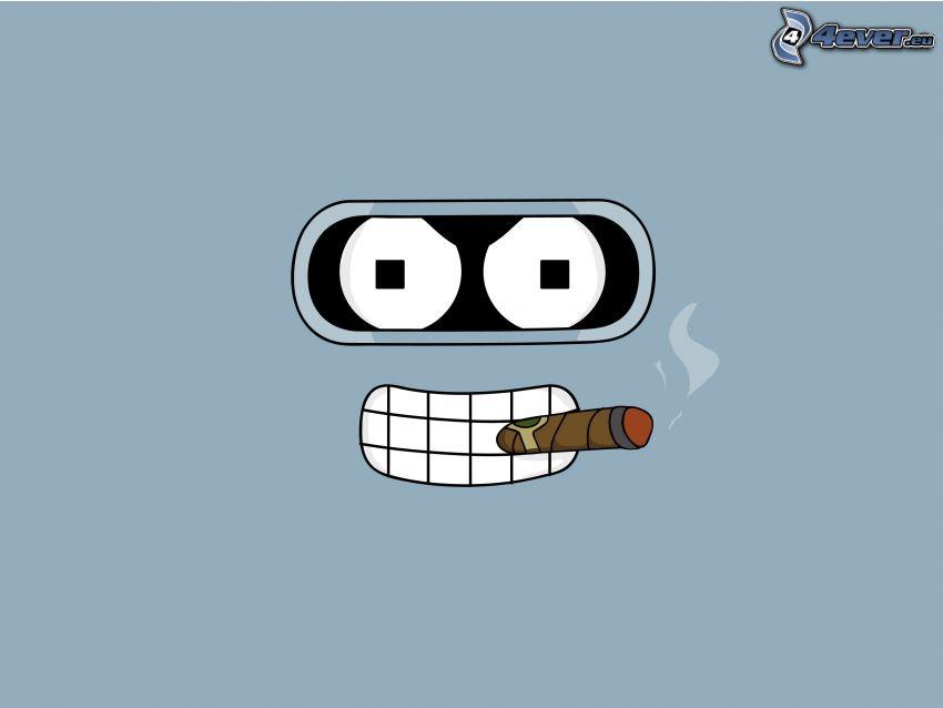 Futurama, smiley, cigarett