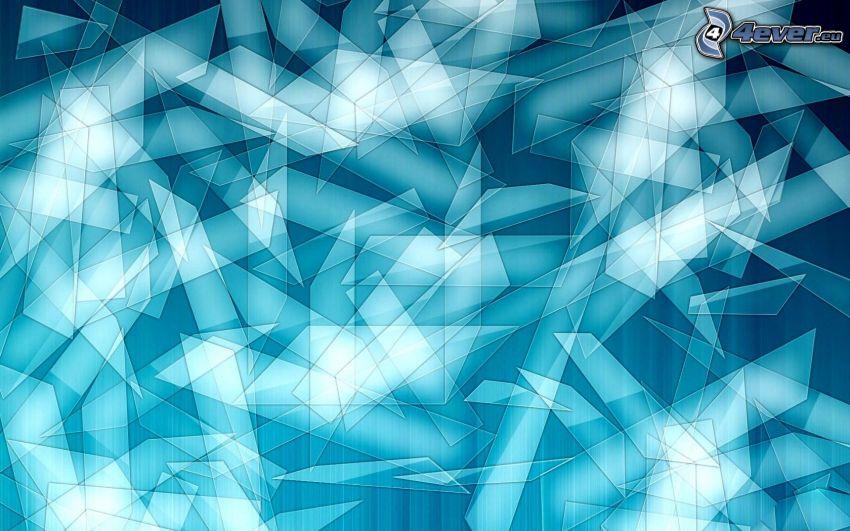 glassplitter, blå bakgrund
