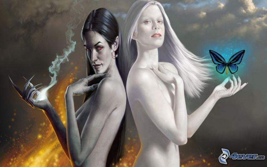 godhet och ondhet, kvinnor