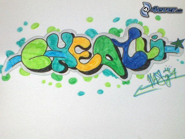 graffiti, hip hop