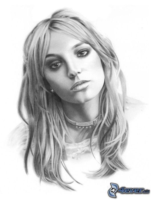 Britney Spears, teckning